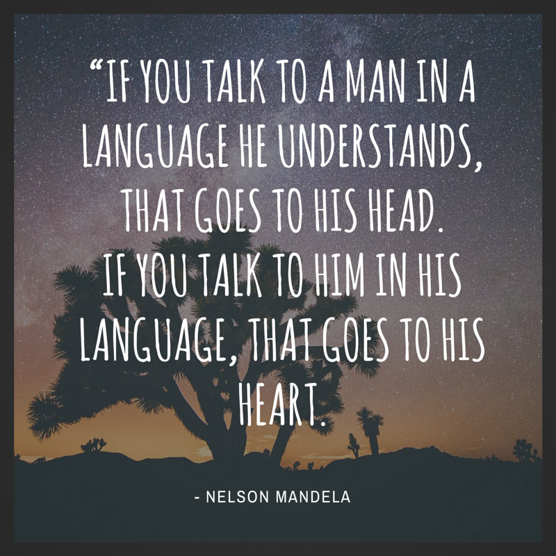 mandela language quote